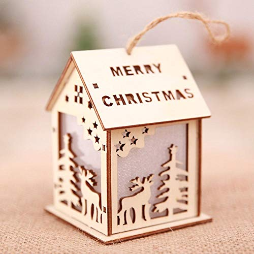 - Christmas Chalet Pendant Ornaments Supplies Decoration for Hotel Bar Supermarket Christmas Tree Chalet Decoration
