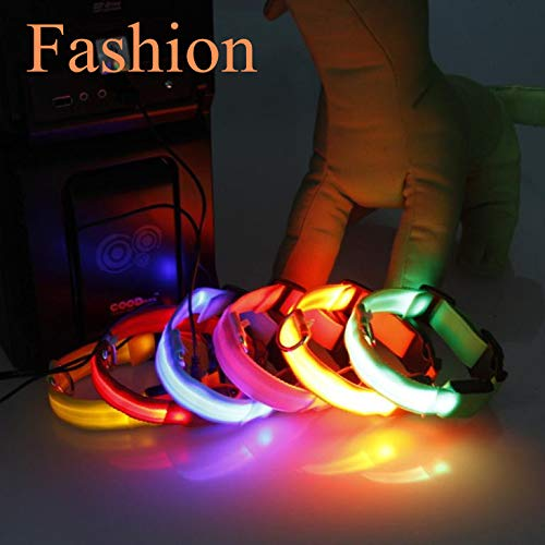 Glumes LED Pet Collar, LED Nylon Adjustable Dog