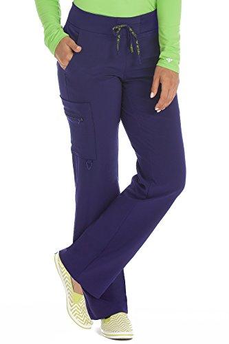 Med Couture Activate Women's Yoga Cargo Pocket Scrub Pant, Large Petite, Plum ()