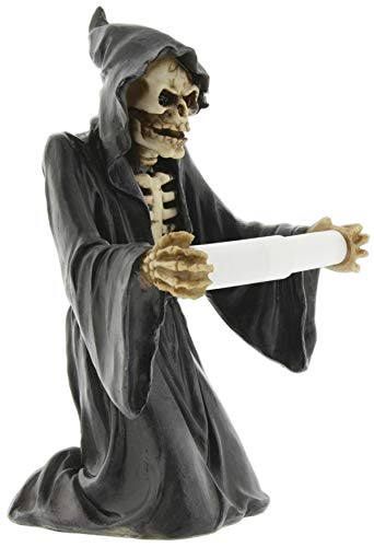 Joy of Giving Decorative Grim Reaper Toilet Paper Holder