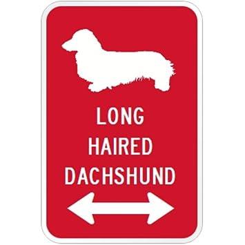amazon long haired dachshund マグネットサイン レッド ロングヘアー