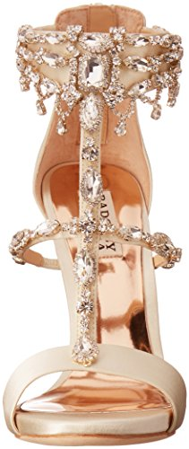 Badgley Mischka Women's Dent Dress Sandal, Ivory, 5 M US