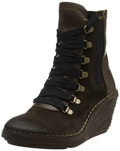 FLY London Suzu - Botas Mujer Beige (Sludge/olive 002)