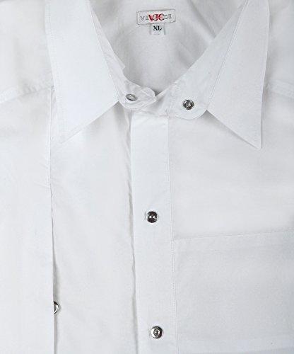 Versace 10040588 jeans chemise pour homme blanc