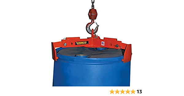 Oil Drum Lifting Clamp Hook Spreader Dedicated for Steel Drum and Barrels 1000 LBS Working Load Limit Giardino Vertical Drum Clamp Barrel Lift Drum Lifter