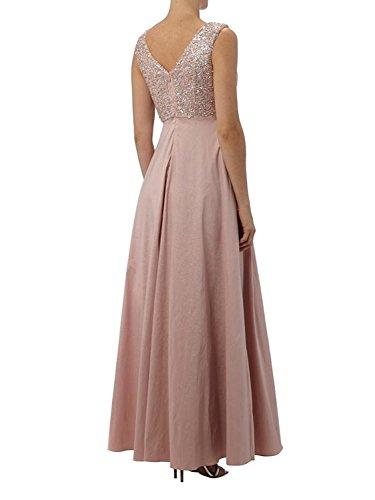 Ballkleider Festlichkleider Lang Zahlreichen Linie Abendkleider Rock Pailletten mit Braut La Brautmutterkleider A Violett Taft mia f0qAX
