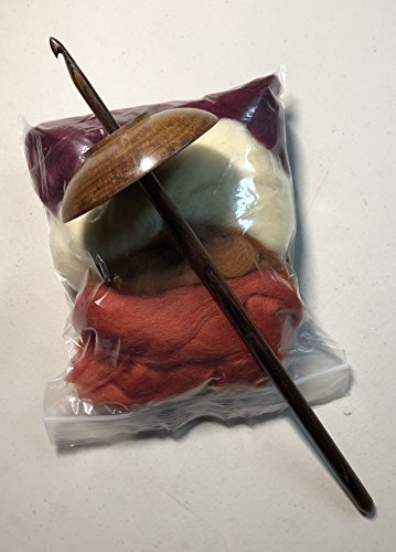 Wool Drop - Yarn Place Hand Made Maple Drop Spindle w/ 2 Oz Fine Merino Wool Spinning Fiber Kit