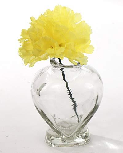 "Larksilk Yellow Silk Carnation Picks, Artificial Flowers for Weddings, Decorations, DIY Decor, 100 Count Bulk, 3.5"" Carnation Heads with 5"" Stems"