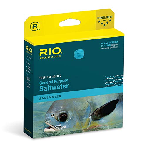 RIO Products Fly Line Tropical Saltwater Wf8F/I 9.5'. Clear Tip/Sea Grass, Clear-Tip-Sea-Grass