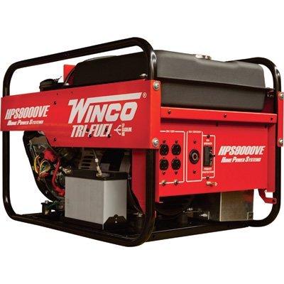 Winco Portable Trifuel Generator - 9,000 Surge Watts, 8,0...