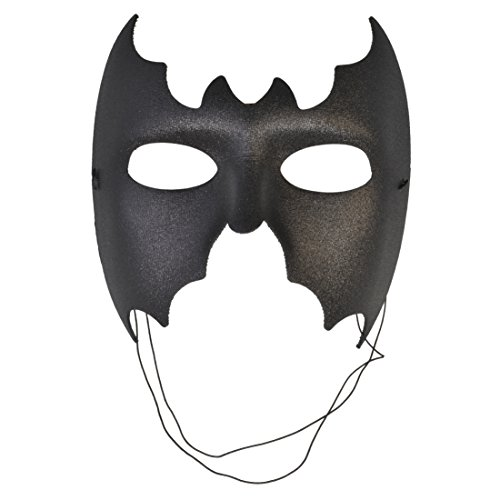Black Mask Batman Fabric Italian Masks Halloween Costume Masquerade Face Mask Sizes: One Size