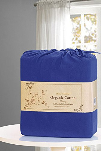 4 Piece Bed Sheet Sets By MarCielo, Deep Pockets, 100% Brushed Microfiber Sheets 2500 Bedding: 1 Flat Sheet, 1 Fitted Sheet, 2 Pillowcases, Wrinkle Fade Resistant, Queen Size, Navy Blue