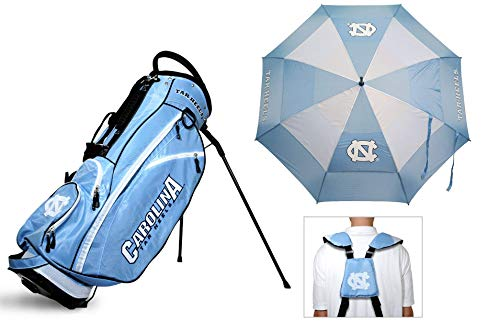 (Team Golf NCAA Bag & Umbrella Bundle | Includes Fairway Golf Stand Bag, 62