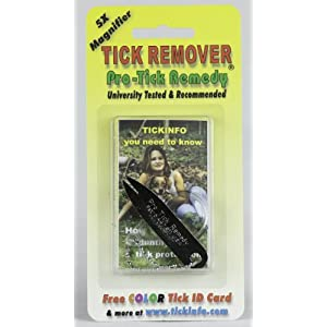 Pro-Tick Remedy Tick Removal Tool with 5X Magnifier Complete Kit for Deer Tick Dog Tick and Lone Star Ticks All Ticks 56