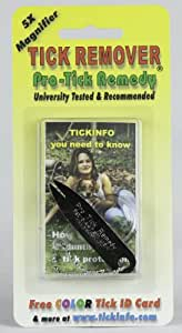 Pro-tick Remedy with 5x Magnifier, Key Chain, Tick Id Card and Tick Tutorial