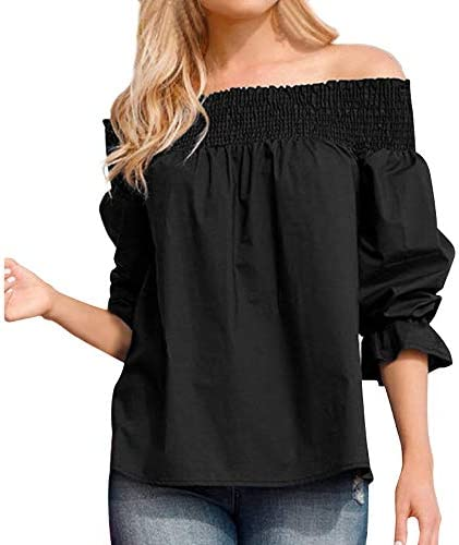 haoricu Women Blouse, Clearance!Women Velvet Off Shoulder Blouse Long Sleeve Ladies T Shirt Loose Casual Work Tops