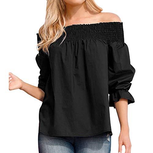 50084e2cea6704 haoricu Women Blouse, Women Velvet Off Shoulder Blouse Long Sleeve Ladies T  Shirt Loose Casual