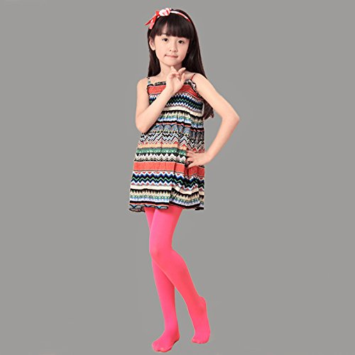 HDE Girl's Microfiber Tights Opaque Footed Kids Dress Stockings by HDE (Image #2)