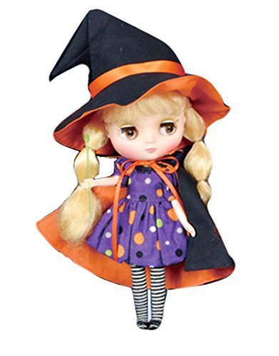 [Junie Moon Dolly wear Blythe Neo Blythe Doll costume Halloween dress set of four (one-piece hat cloak socks) Scary Boo! (Scary Boo!) 2015 Whimsical Witch (Wim radical witch)] (Halloween Costumes Scary Doll)