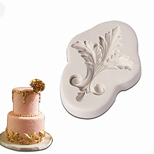 Filigree Vintage Scroll Silicone Mold for Cake Border Mold Resin Candy Chocolate Cake Decorating Tools - Border Bread
