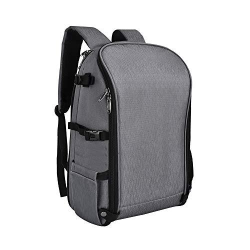 UTEBIT XL 2 DSLR Camera Bag Waterproof Big Foldable Backpack Portable Camera Case for 1 Camera 4 Lens or 2Cameras 2Lens with Notebook or Tablet Computer Storage Layer Gray Folding Knapsack