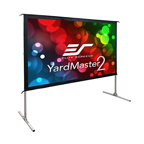 Elite Screens Yard Master 2, 110-inch Indoor Outdoor Portable Fast Folding Projector Screen with Stand 16:9, 8K 4K Ultra HD 3D Movie Theater Cinema 110