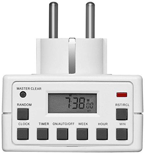 Smart Planet® alta calidad temporizador digital para por ejemplo rollos, acuarios, lámpara lámpara Smart-Planet W-93256