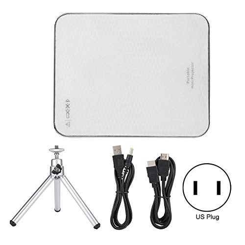 Bewinner Mini Projector Portable Mobile Phone Projectors 2000 Lumens 4K Projector with HDMI Input for Android/iOS Phones, Support 30-100 Inches Display(White)