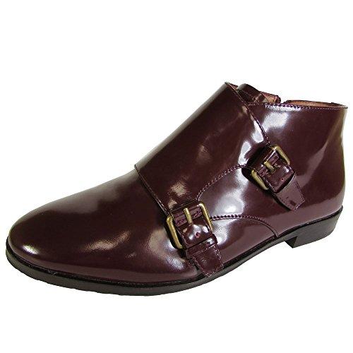 Gentle Souls Womens Canary XL Monk Strap Ankle Bootie Shoe, Plum, US 7