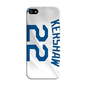 LarryToliver Design iphone 5/5s Print Case With Hard Shell Cover for Customizable Baseball Los Angeles Dodgers