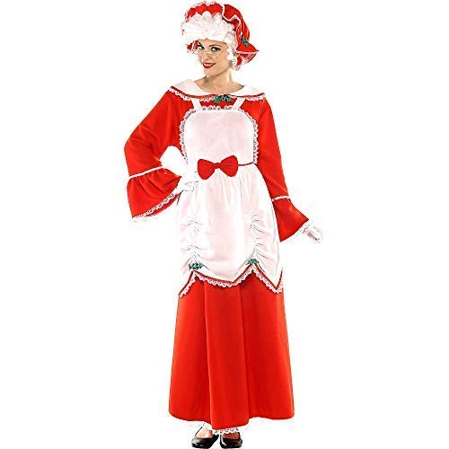 Amscan Mrs. Claus Costume for Women, 2 XL, with Included