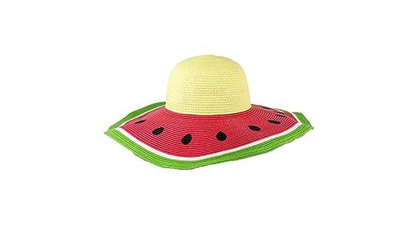 db565ba8 MAGID Women's Watermelon Wide Brim Floppy Straw Sun Hat, Multi at Amazon  Women's Clothing store:
