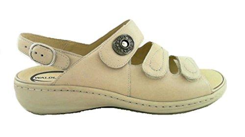 Waldläufer 408002 172 111 - Sandalias de vestir de Piel para mujer Beige