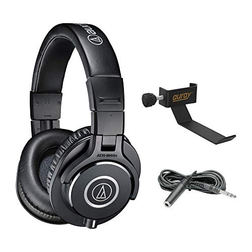 Audio-Technica ATH-M40x Monitor Headphones (Black) – Includes – Carry Pouch and 1-Year Extended Warranty