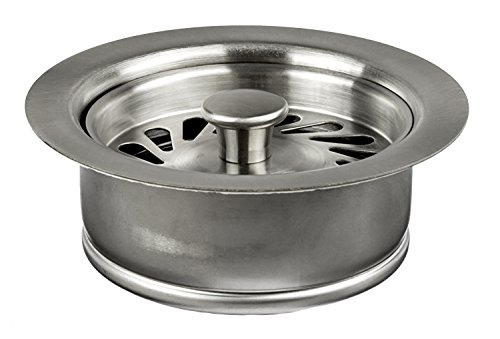 Deluxe Series ISE (In-Sink-Erator) Metal Disposal Flange/ Stopper- PVD Brushed Stainless Steel