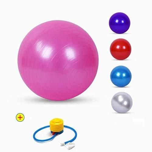 TOUA Rubber Gym Ball With Foot Pump, Size 75 cm,  Multicolour
