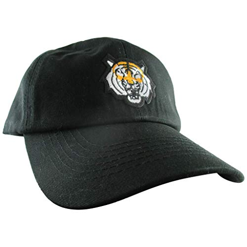 AffinityAddOns Tiger Dad Hat, Unisex Black Baseball Cap, Embroidered Patch