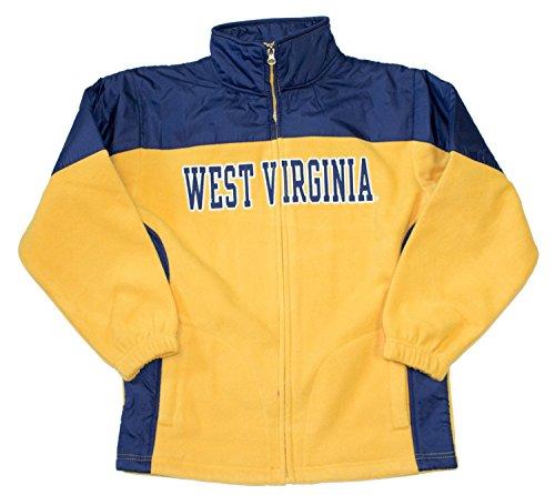 Outerstuff NCAA Licensed West Virginia Mountaineers Full Zip YOUTH Fleece Jacket (Extra Large 14/16)
