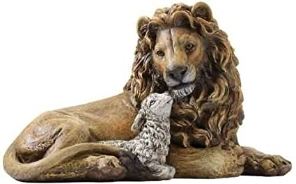 Amazon Com Lion And Lamb Laying Together Religious Christmas