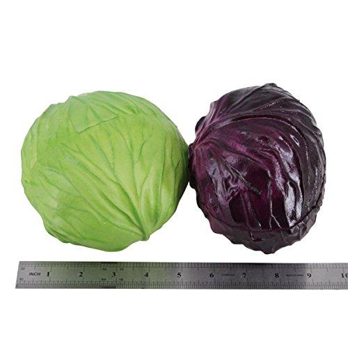 Lorigun PU Fake Red Cabbage Simulation Bubble Fruits & Vegetables Emotion Arrangement Scenes Props Simulation X 1Pcs Cabbage by Lorigun (Image #4)