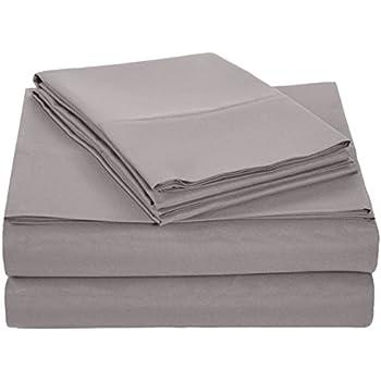 AmazonBasics Microfiber Sheet Set - Queen, Dark Grey