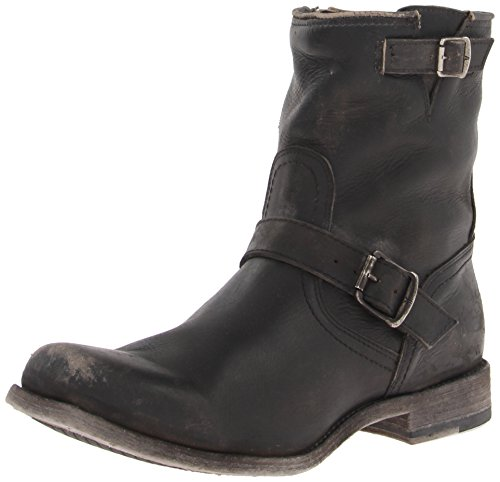 Frye Men's Smith Engineer Engineer Boot, 87078-Black, 8.5 D US (Frye Engineer)