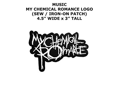 My Chemical Romance Metal Rock Punk Indy Music Band DIY Embroidered Sew or Iron-on Applique Patch Outlander Gear