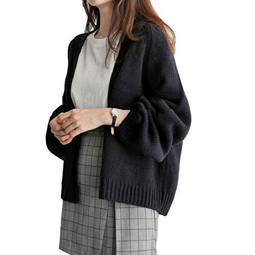 Tonibau ニット カーディガン レディース ニットコート トップス 無地 羽織 長袖 ドルマンスリーブ ゆったり 大きいサイズ