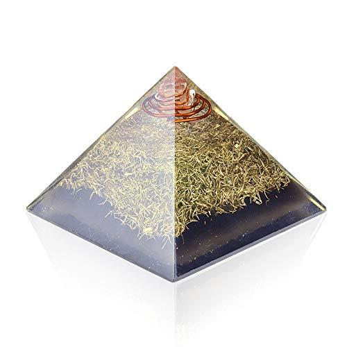 Orgone Pyramid Crystal for Energy Generator & Emf Protection - Healing - Meditation Chakra ()