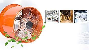 Ventilador Comercial Industrial, Extractor portátil de Tubo cilíndrico de 14 Pulgadas, Potente Extractor de Cocina/Campana extractora: Amazon.es: Hogar