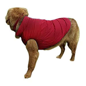 Cold Weather Dog Jackets Coats, Durable Waterproof Windproof Thick Fleece Lined Winter Warm Pet Dog Puppy Coat Snowsuit… Click on image for further info.