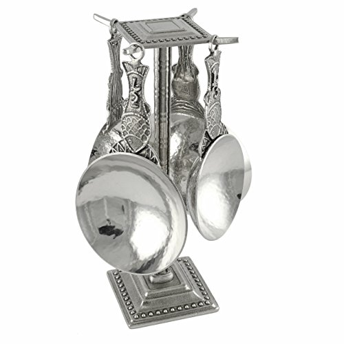 (Crosby & Taylor Fish Pewter Measuring Cups with Display Post )