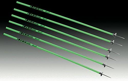 Coaching Stick Hurdle - Kwik Goal Coaching Sticks (6 Set), Hi-Vis Green
