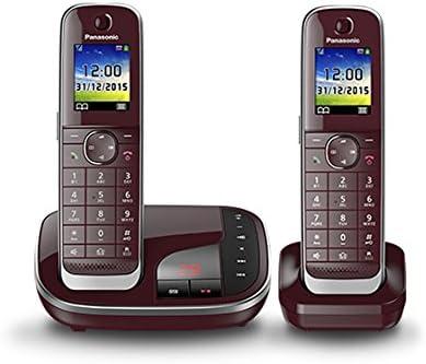 Panasonic KX-TGJ322 - Teléfono (Teléfono DECT, Identificador de Llamadas, Servicios de Mensajes Cortos (SMS), Rojo) [versión importada]: Panasonic: Amazon.es: Electrónica